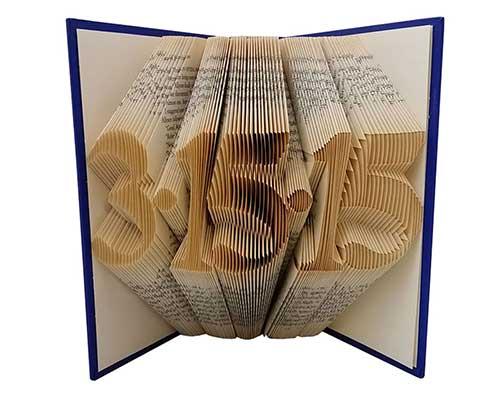 Customized Book Fold Art