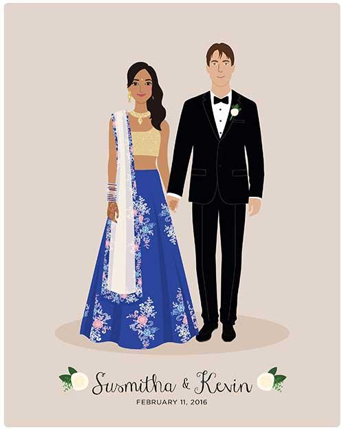 Customized Wedding Couple Portrait