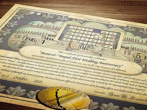 Dedicate a Day Parchment Certificate