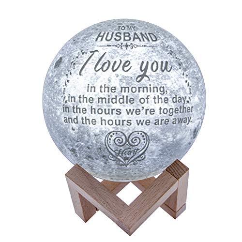 Engraved Moon Lamp