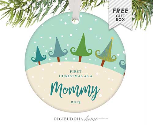 Expecting Mother Christmas Ornament
