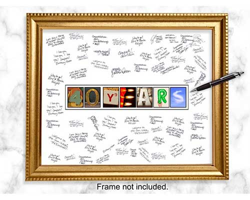 Frameable Guestbook