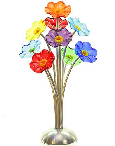 Hand Blown Glass Flower Bouquet