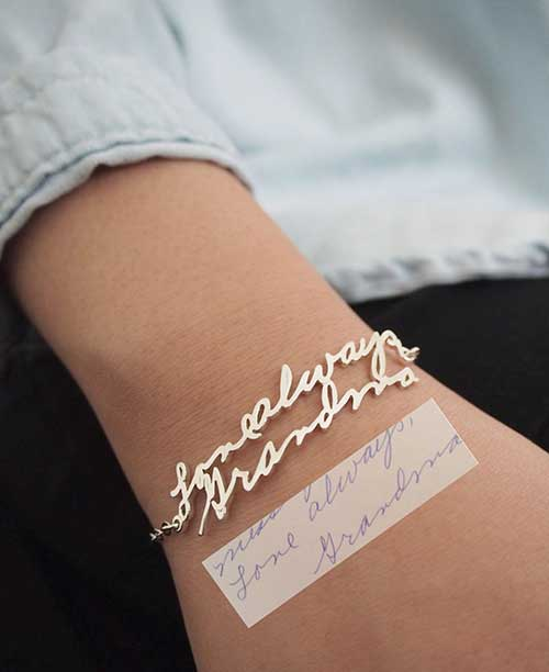 Handwriting Bracelet