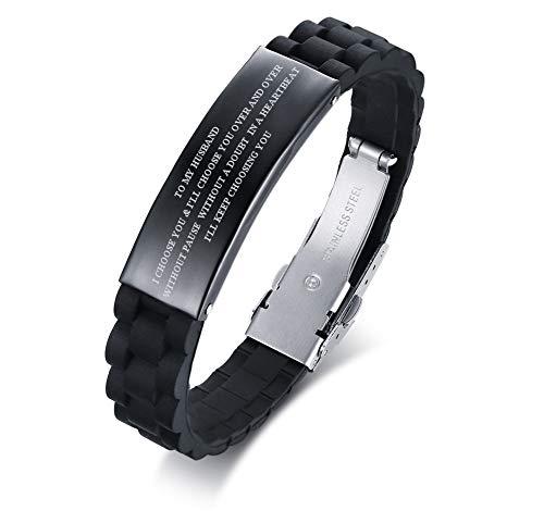 Meaningful Black Silicone Bracelet