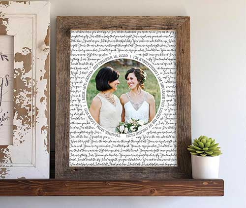 Mother of the Bride Barn Wood Frame