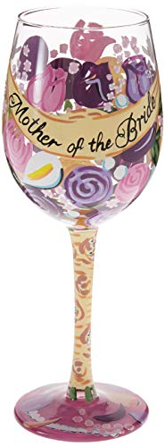 Mother of the Bride Hand Painted Wine Glass