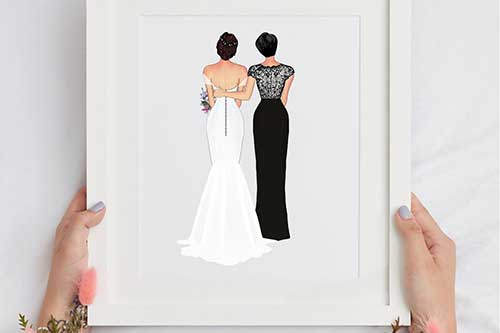 Mother of the Bride Personalized Print