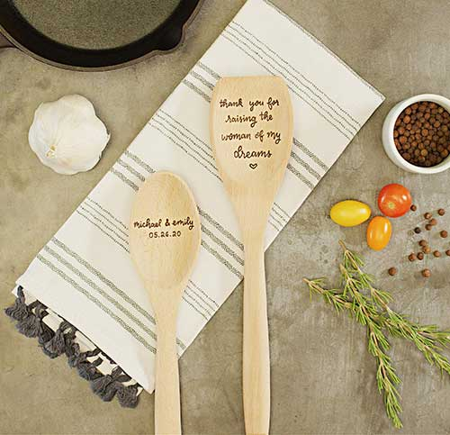 Mother of the Bride Personalized Wooden Spoons