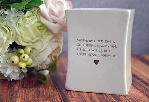 Mother of the Bride Square Vase