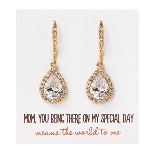 Mother of the Bride Teardrop Earrings