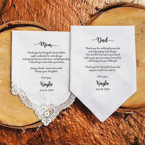 Mother of the Bride Customized Handkerchief
