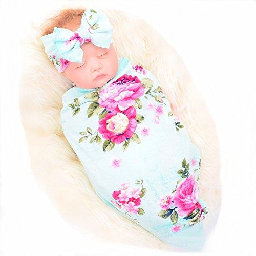 Newborn Receiving Blanket and Headband