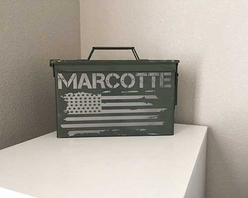 Personalized Ammo Box