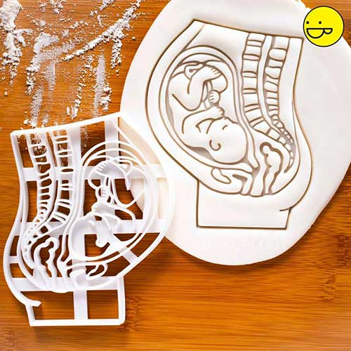 Pregnant Womb with Fetus Cookie Cutter