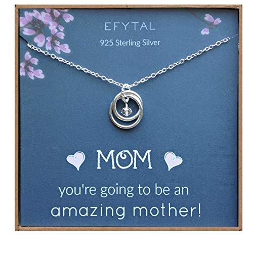 Sterling Silver Necklace for Moms to Be