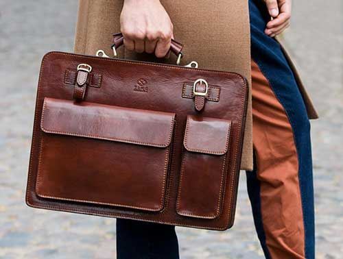 Stylish Leather Briefcase