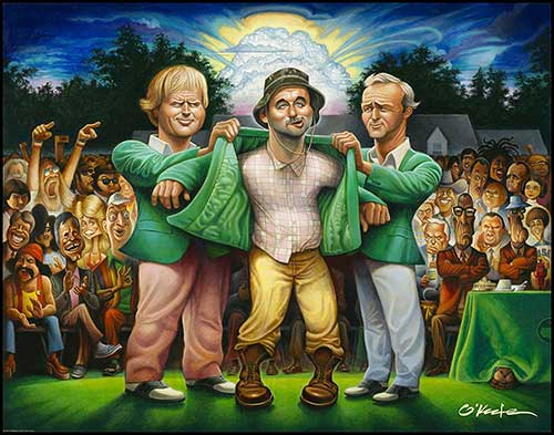 The Green Jacket Wall Print