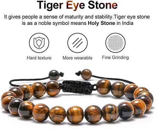 Tiger Eye Mens Bracelet
