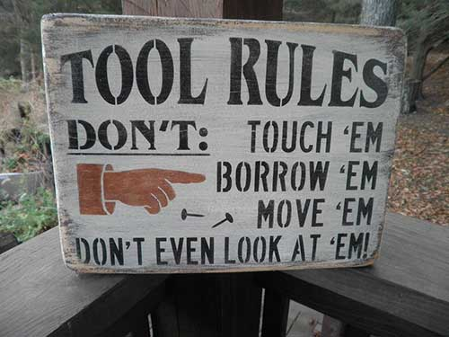 Tool Rules Shop Sign