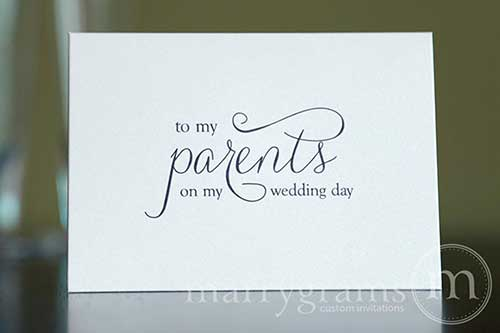 Wedding Card to Your Mother