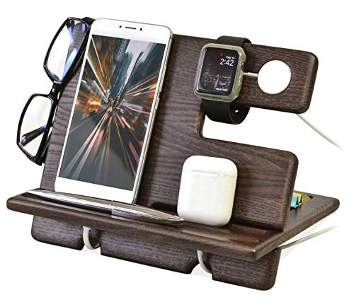 Wood Phone Docking and Charging Station
