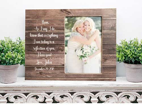 Wooden Personalized Mother of the Bride Frame