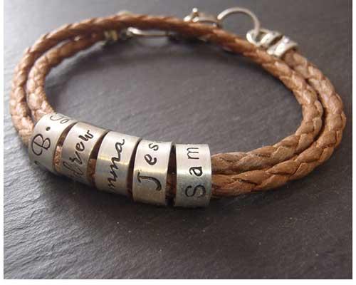 Anniversary Bracelet with Custom Beads