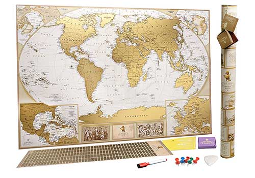 Antique Style Scratch Off Map