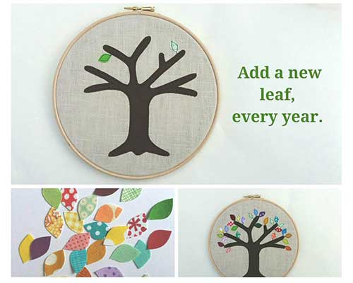 Applique Tree Anniversary Gift