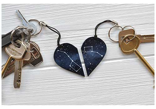 Couples Stars Keychain