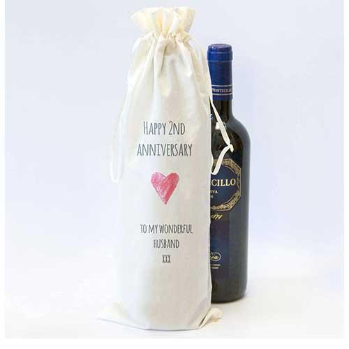 Custom Cotton Wine Bottle Bag