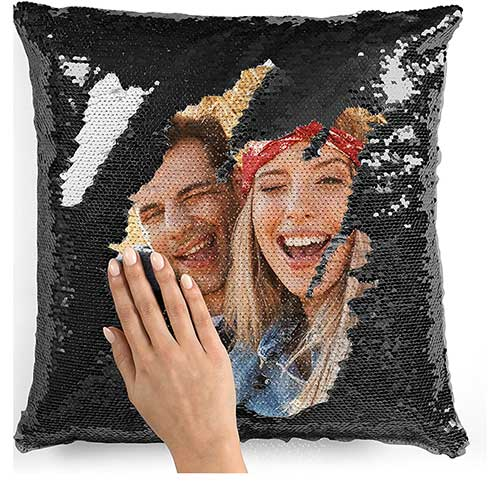 Custom Photo Sequin Pillow Case
