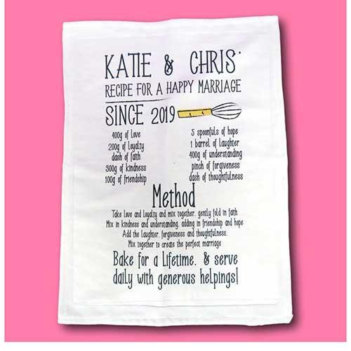 Happy Marriage Tea Towel