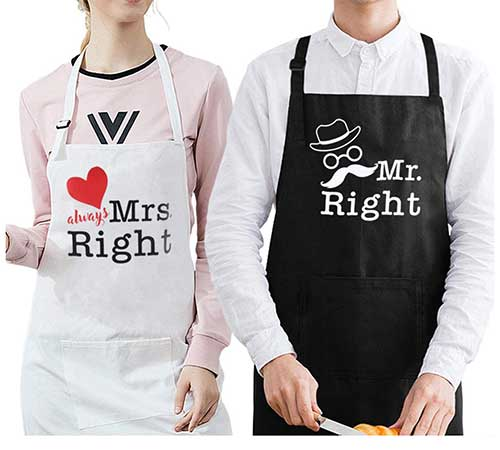 Mr. and Mrs. Cotton Aprons