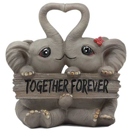 Kissing Elephant Figurine