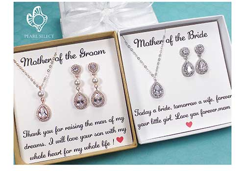 Mother of the Groom Earring and Necklace Set