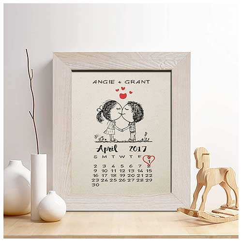 Second Anniversary Calendar