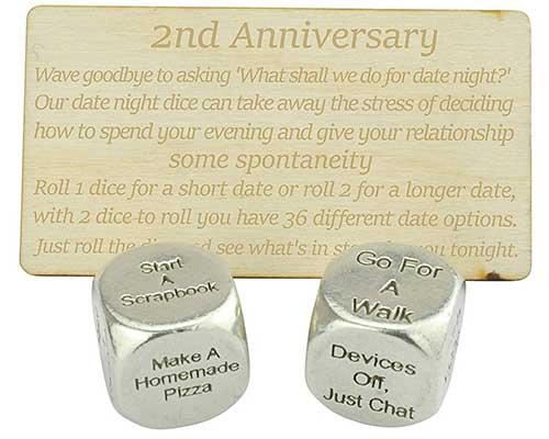 Year 2 Anniversary Date Dice