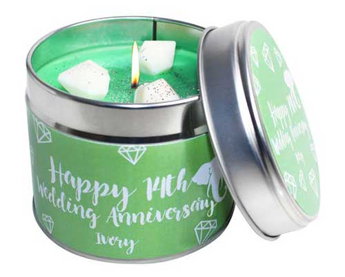 14th Anniversary Candle Set