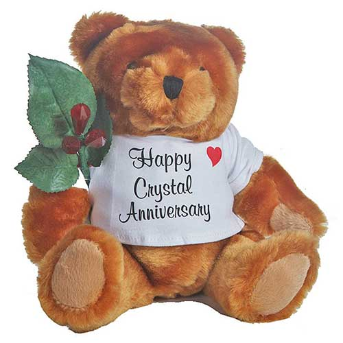 15th Crystal Anniversary Plush Teddy Bear
