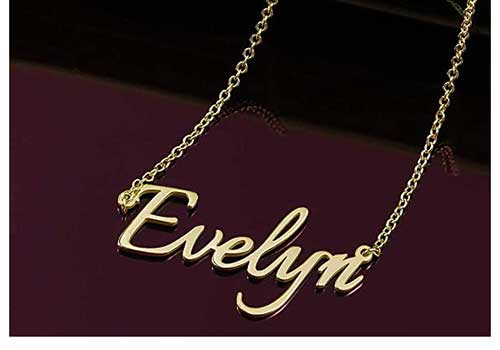 18K Karat Gold Plated Personalized Necklace