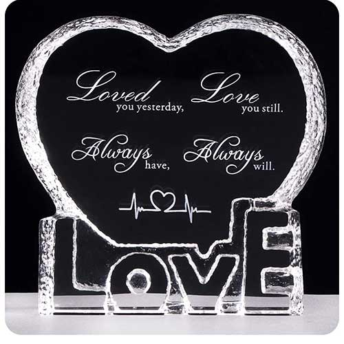 Anniversary Crystal Sculpture Gift