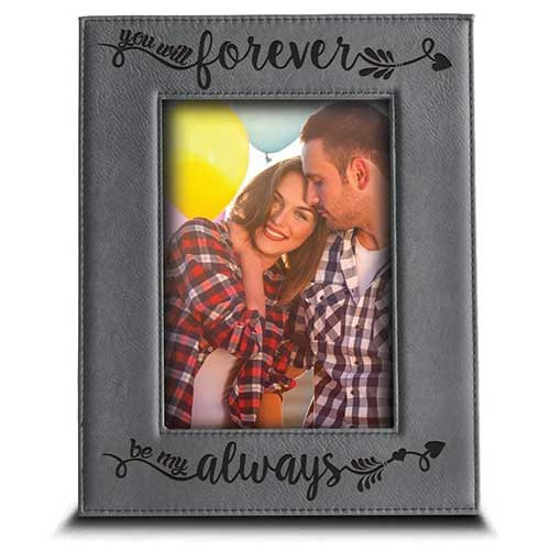 Be My Forever Leather Frame