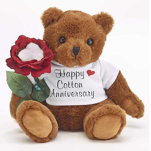 Cotton Anniversary Teddy Bear