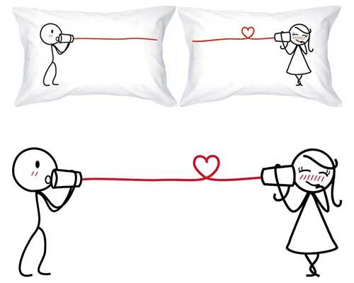 Cotton I Love You Pillows