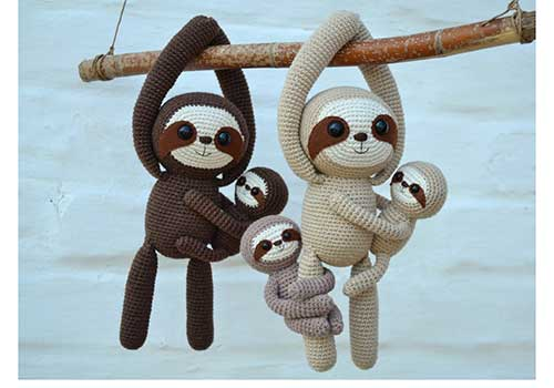 Crochet Sloth Dolls