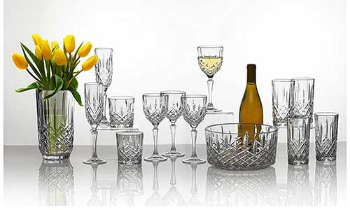 Crystal Champagne Flute Set from the Marquis By Waterford Range