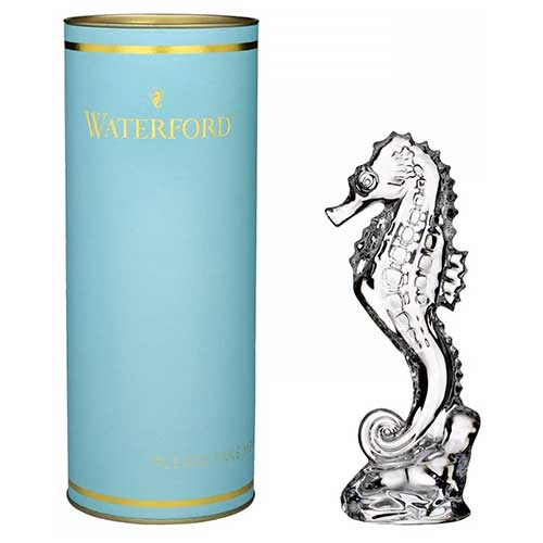 Crystal Seahorse Paperweight from Waterford Giftology