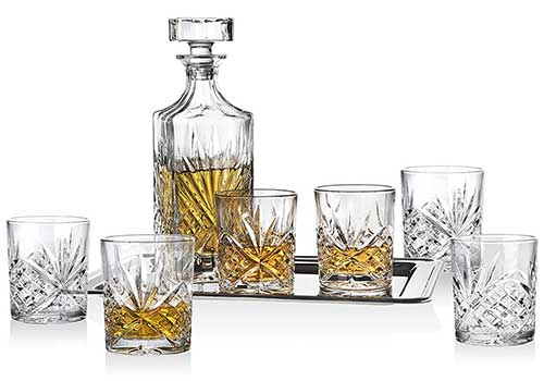Dublin Whiskey Crystal Bar Set